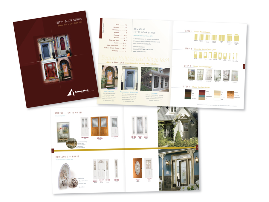 Entry door catalog joni blymire graphic design for Door design catalog